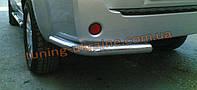 Защита заднего бампера уголки одинарные D60 на Nissan Pathfinder 2010-2014