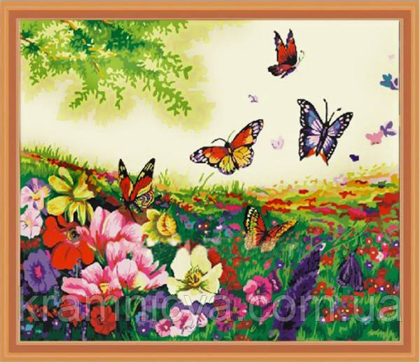 "Картины по номерам ""Бабочки в цветах"", 40х50см. (MG250, КН250)"