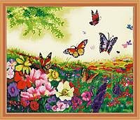 "Картины по номерам ""Бабочки в цветах"", 40х50см. (MG250, КН250), фото 1"