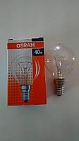 Лампа накаливания Osram шар 40Вт, E14, прозрачная