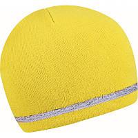 Шапка из акрила со светоотражающей полоской, цвет в ассортименте, фото 1