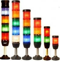 Світлова колона діаметр 50мм 4 яруси (чер, зел,жов, зумер), світлодіод 220В алюмінієвий патрубок 100мм