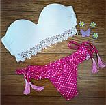 Женский красивый белый купальник с кружевной вставкой , фото 4