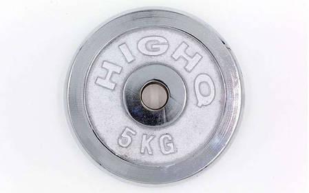 Блины для штанги хром 5кг(диам. 30мм) ТА-1452, фото 2