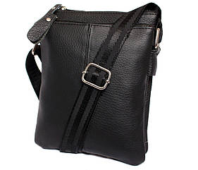 Мужская сумка компактного размера выполнена из натуральной кожи 300129