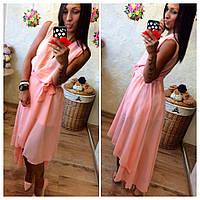Платье женское короткое шифоновое на резинке P3127