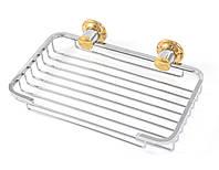 Мыльница металлическая решетка 21 Andex Classic, хром-золото