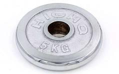 Блины для штанги хром 5кг(диам. 52мм) ТА-1802