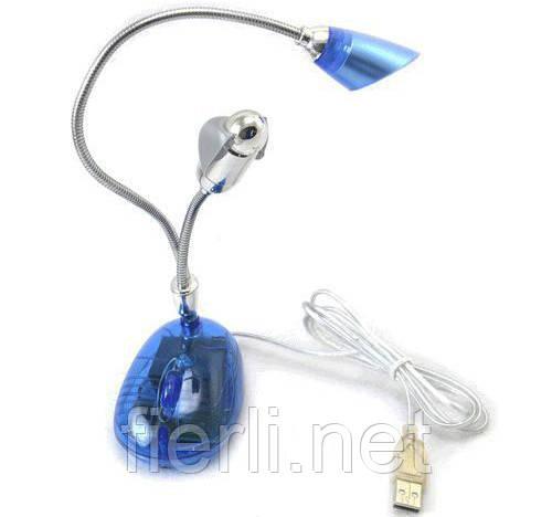 Вентилятор + лампа USB 898 AF