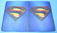 Кожаная обложка на паспорт Супермена