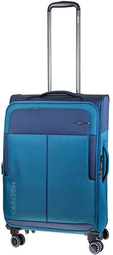 Гигантский синий чемодан из ткани на 4-х колесах CARLTON 099J478;70, 121 л.