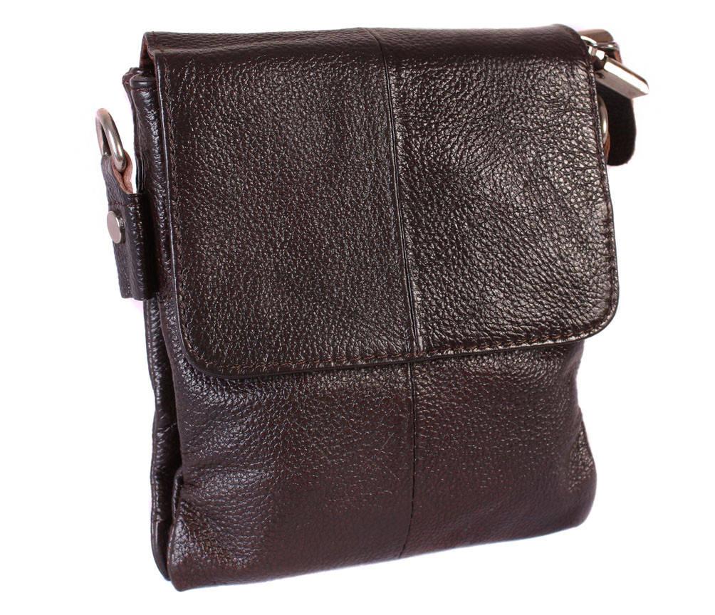 Мужская кожаная сумка со съемным плечевым ремнем 300148