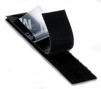 Застежка 3М Петля-Крючок Scotchmate SJ-3572 (Крючок) с клеем типа VHB, черная, 25мм х 2,5мм-6мм х 1м, до 5000