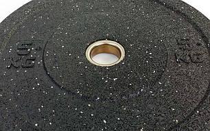Блины (диски) проф. Бампер структурные с метал. втулкой отв. d-51мм RAGGY  5кг (резина), фото 2