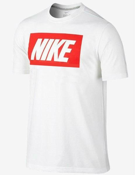 Мужская футболка Nike белая с красным принтом