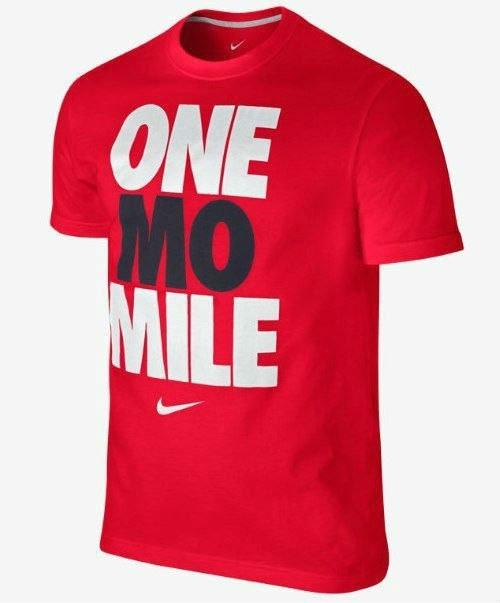 Мужская футболка Nike красная One mo Mile