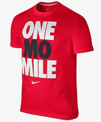 Мужская футболка Nike красная One mo Mile, фото 2