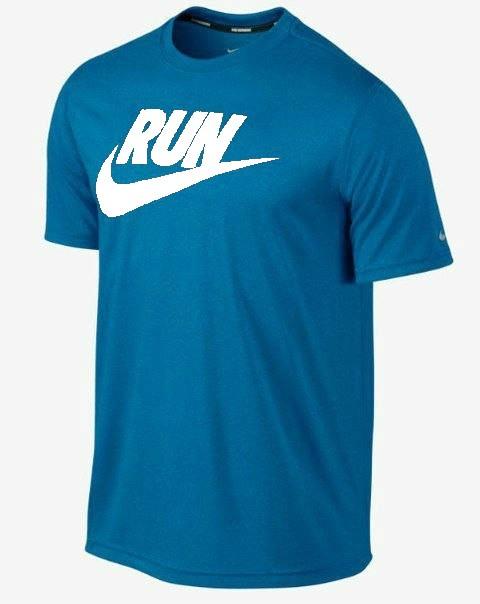 Мужская футболка Nike синяя (RUN)