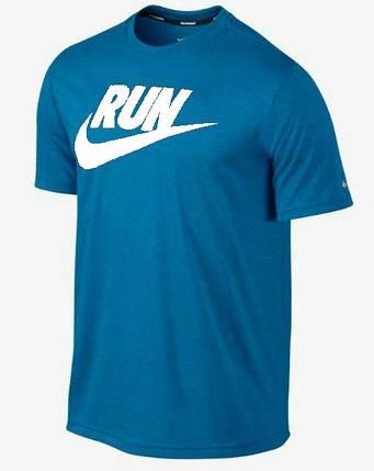 Мужская футболка Nike синяя (RUN), фото 2