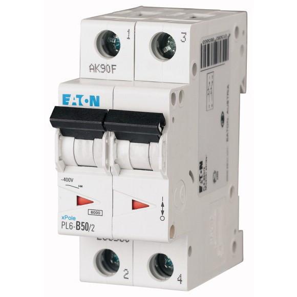 Автоматический выключатель Eaton (Moeller) PL6-C50/2 (286572)