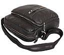 Мужская кожаная сумка 300123 черная, фото 5