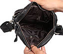 Мужская кожаная сумка 300123 черная, фото 7