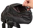 Мужская кожаная сумка 300123 черная, фото 9