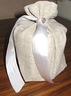 Мешочки для упаковки подарков, стильная мешковина