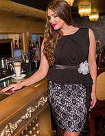 Нарядное и очень красивое платье большого размера 50-54  короткое до колена черное