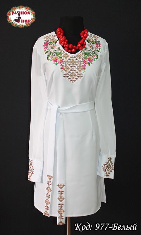 Жіноча вишиванка сукня Неперевершена Лілія -