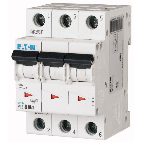 Автоматический выключатель Eaton (Moeller) PL6-C10/3
