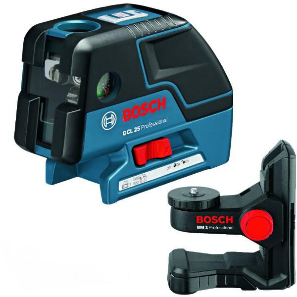 Комби-лазер (линейный + точечный) Bosch GCL 25 + BM1 в L-Boxx 136, 0601066B03