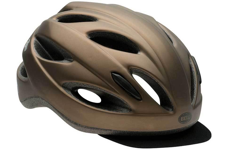 Велошлем Bell Piston Soft Brim матовый металлик/коричневый, Uni (54-61) (GT)