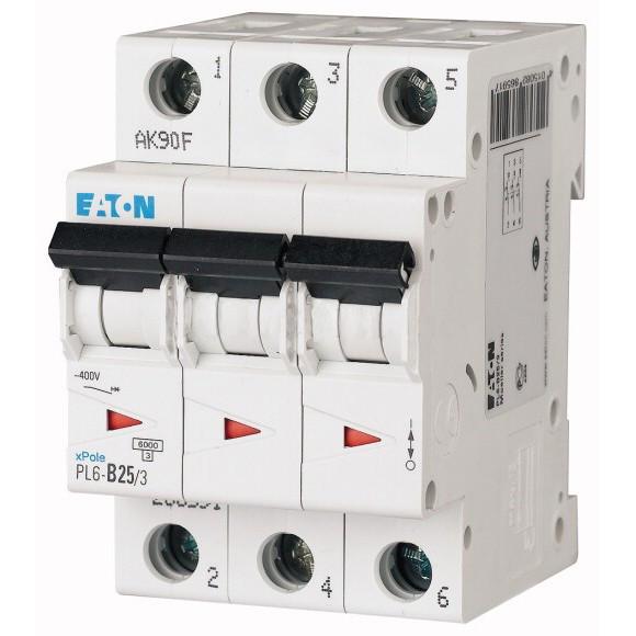 Автоматический выключатель Eaton (Moeller) PL6-C25/3 (286603)