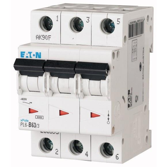 Автоматический выключатель Eaton (Moeller) PL6-C63/3 (286607)