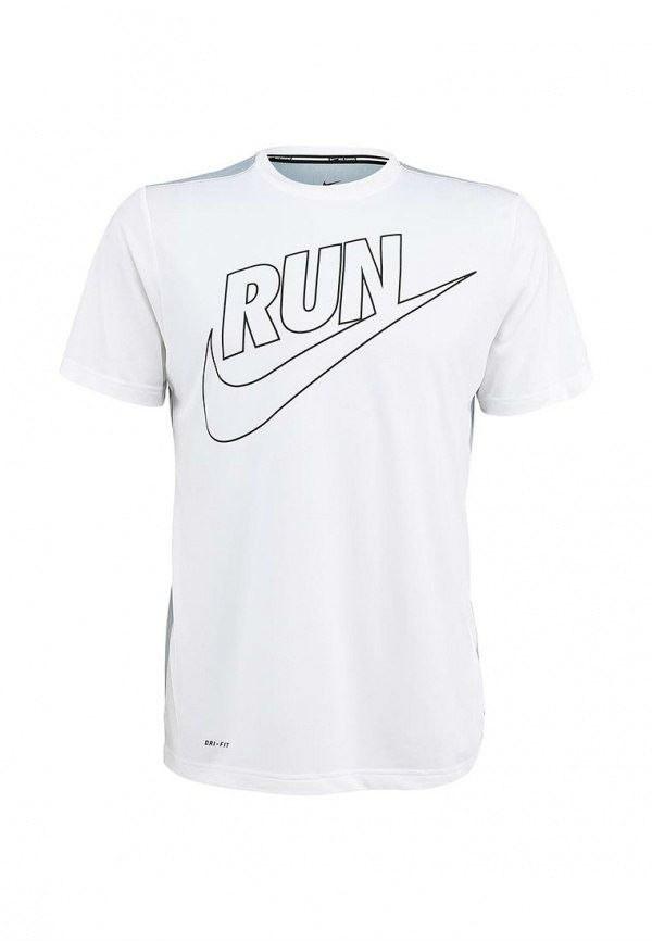 Мужская футболка Nike белая (RUN)