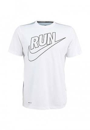 Мужская футболка Nike белая (RUN), фото 2