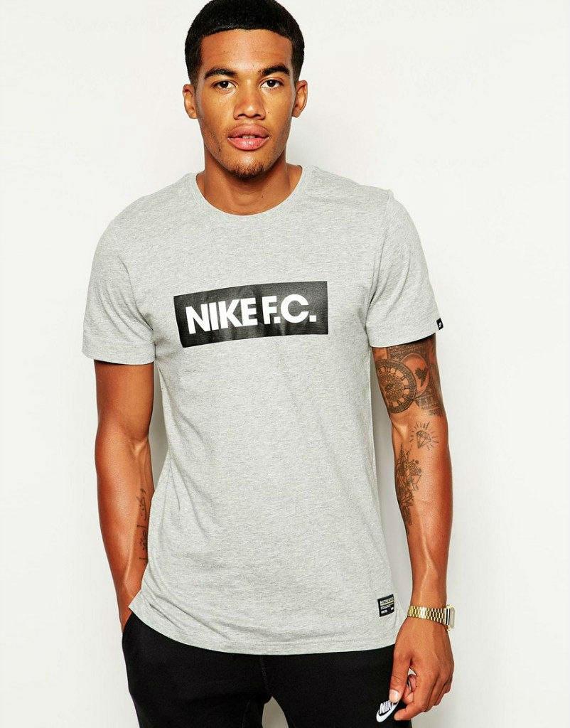 Мужская футболка Nike FC серая