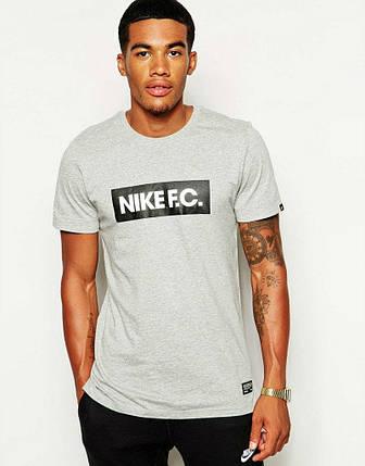 Мужская футболка Nike FC серая, фото 2