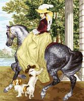 Дама на лошади Набор для вышивки крестом