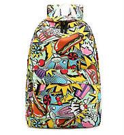 Модный рюкзак фаст-фуд для молодежи