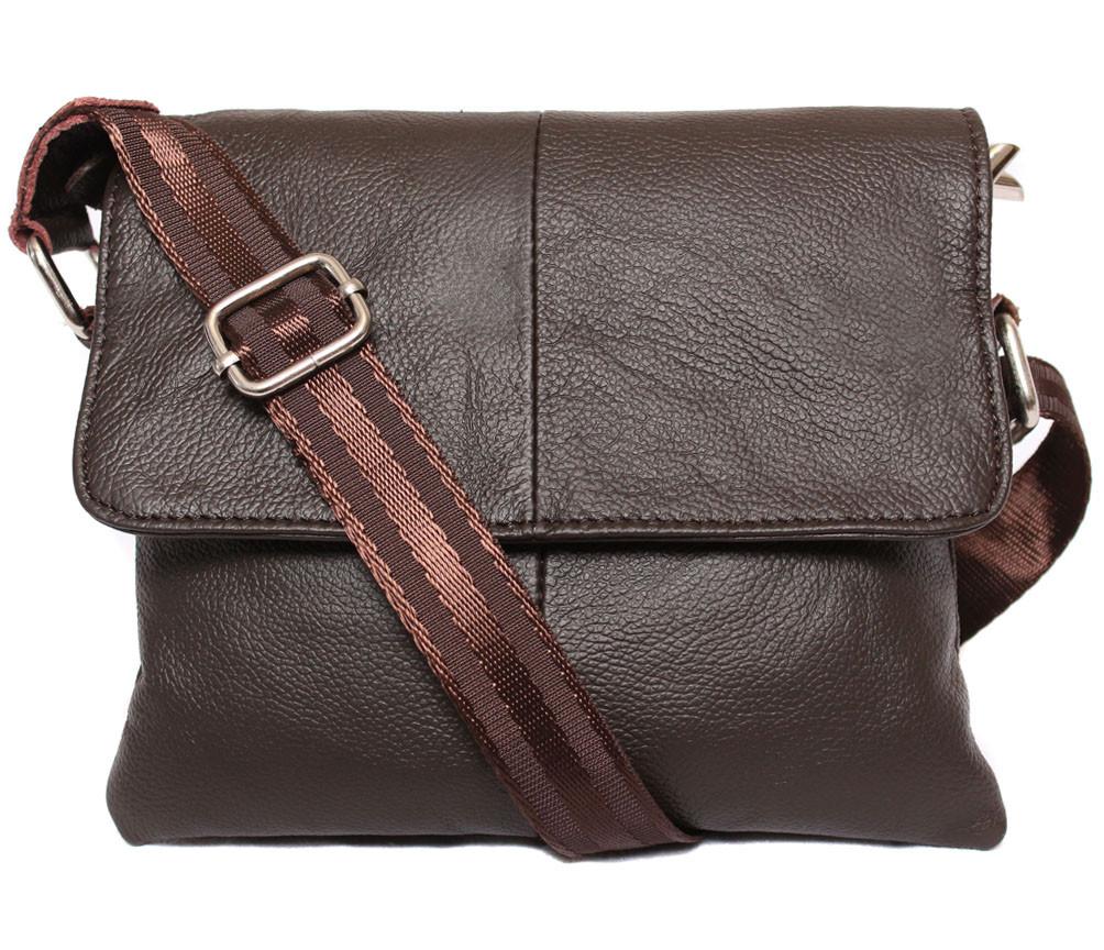 Горизонтальная мужская сумка из высококачественной кожи 300134