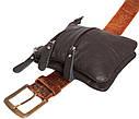 Вертикальная мужская сумка из натуральной кожи на пояс 300150, фото 7