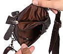 Вертикальная мужская сумка из натуральной кожи на пояс 300150, фото 8