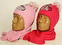 Шапка+шарф для девочки арт. 175-2 Польша