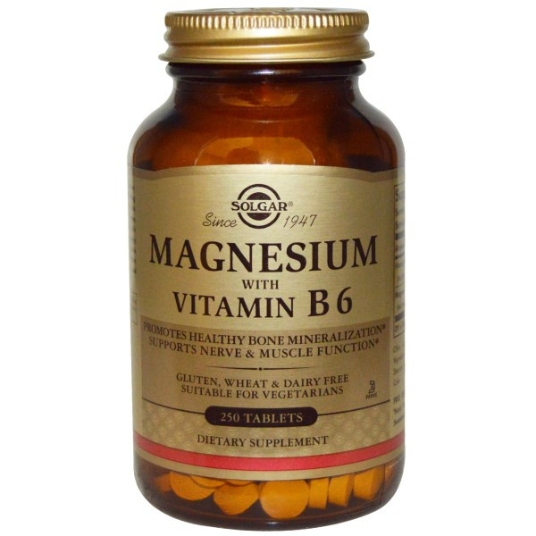Магний витамин В6 Solgar, 250 таблеток