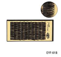 Норковые ресницы для наращивания пучками (черные; длина 10 mm) Lady Victory LDV  EYF-01В /58-1