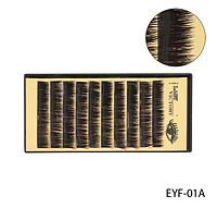Норковые ресницы для наращивания пучками (черные; длина 8 mm) Lady Victory LDV EYF-01A /58-1