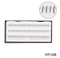 Одинарные ресницы норка для поресничного наращивания (черные; длина 10 mm) Lady Victory LDV EYF-02В /58-1