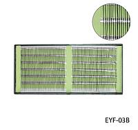 Ресницы одинарные, тонкие для поресничного наращивания (черные; длина 10 mm) Lady Victory LDV EYF-03В /58-1